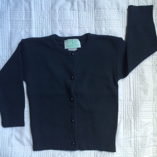 Julius Berger Navy Cotton Cashmere Cardigan