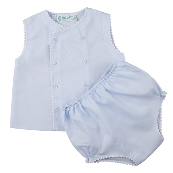 Boys Sailboat Diaper Set