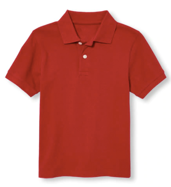Big Boy Short Sleeve Pique Collared Shirt