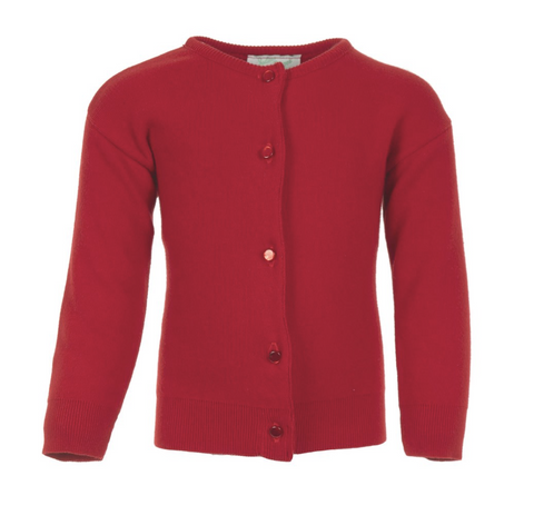 Julius Berger Red Cotton Cashmere Cardigan
