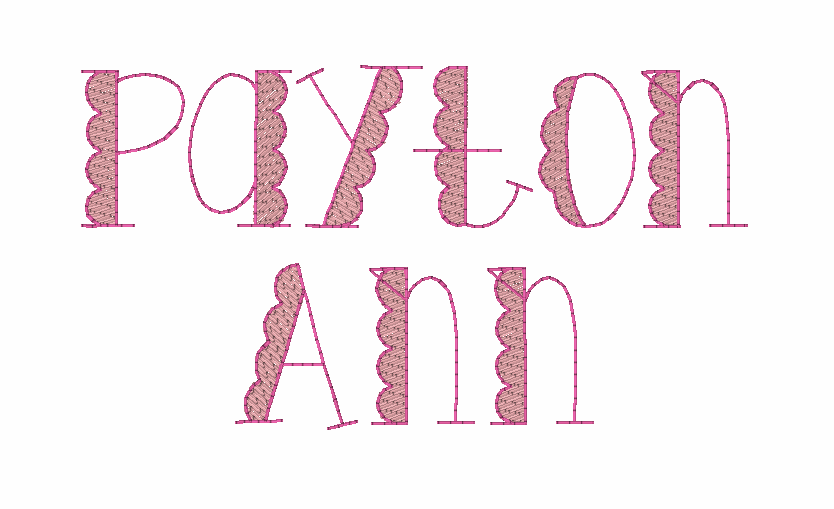 Scalloped Sketch Monogram Font