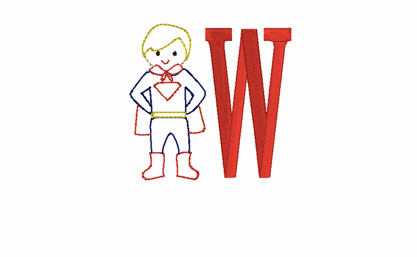 Superhero Monogram