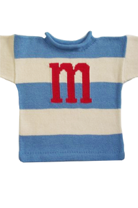 Wide Stripe Sweater with Name