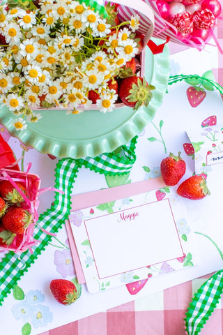 Strawberry Personalized Stationary with Envelopes