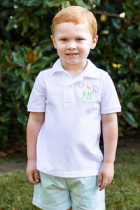 Zoo Monogrammed Collared Shirt