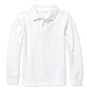 Big Boy Long Sleeve Pique Collared Shirt