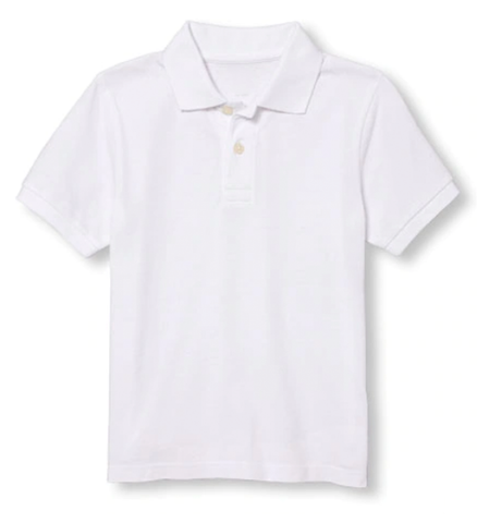 Toddler Short Sleeve Pique Collared Shirt