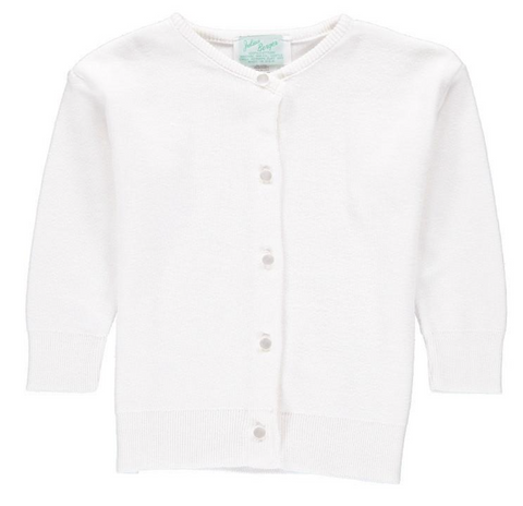 Julius Berger White Cotton Cashmere Cardigan