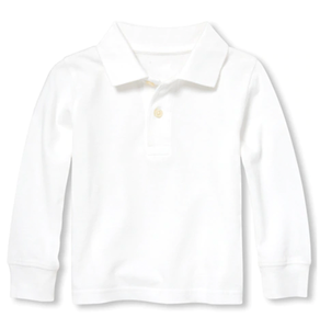 Toddler Long Sleeve Pique Collared Shirt