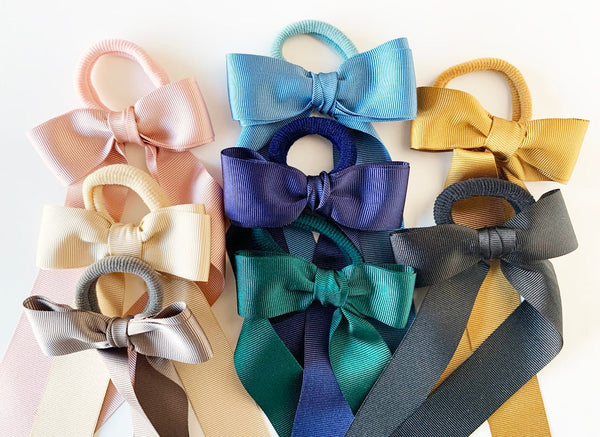 Double Grosgrain Bow with Tails