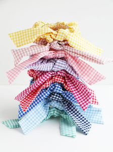 Gingham Short Tails Scrunchie