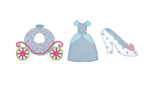 Princess Trio Applique