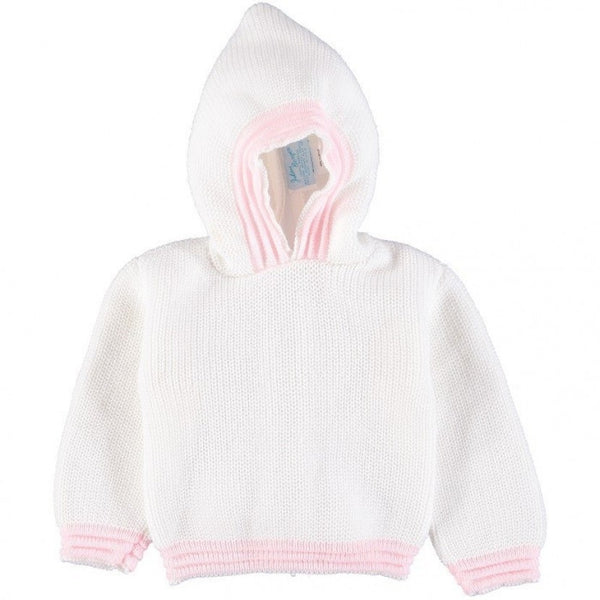 Julius Berger White and Pink Zip Back Hoodie