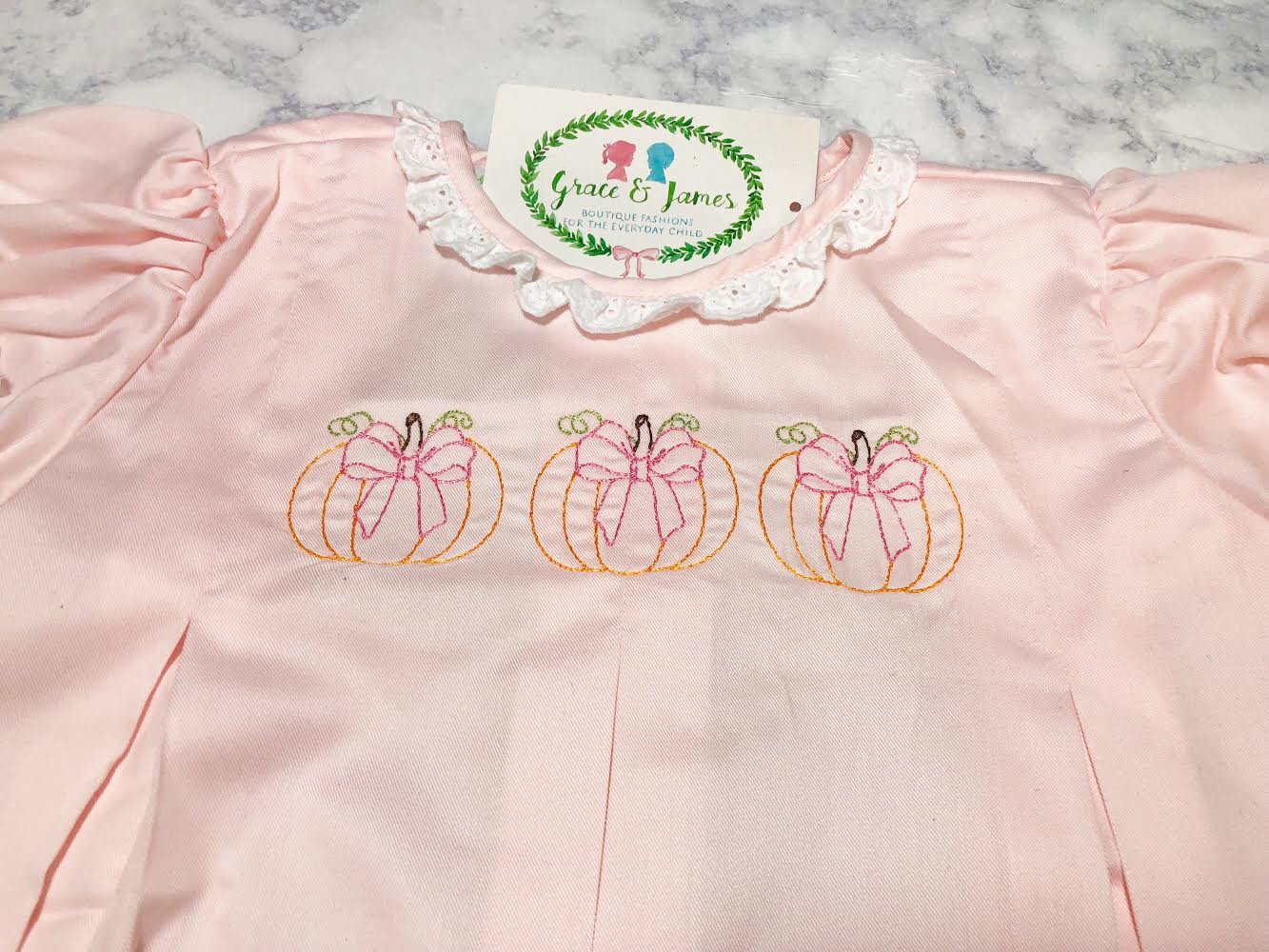 Pumpkins with Bows Embroidery