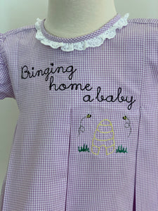 Bringing Home a Baby Bumble Bee Embroidery