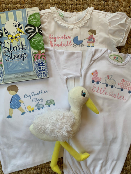 Girl's Stork Embroidery