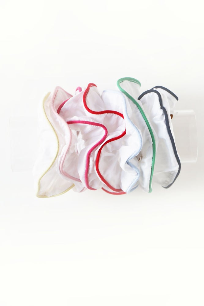 White and Color Scrunchies