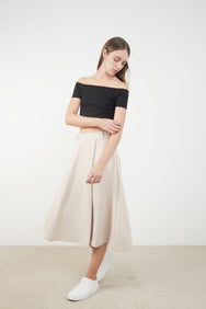 MEGAN BOX PLEAT SKIRT