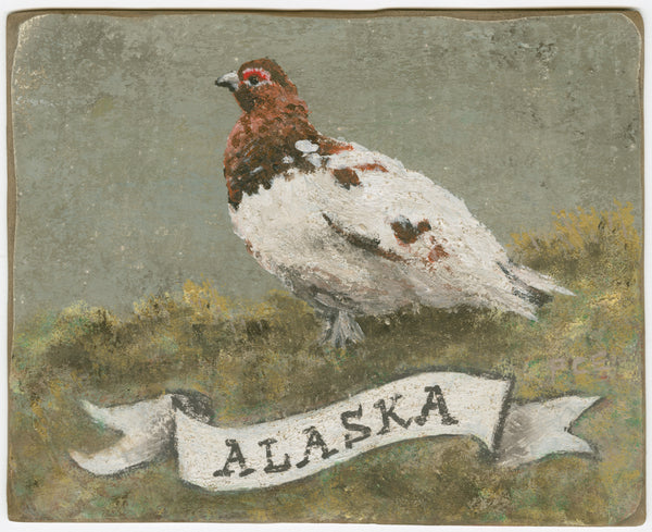 Alaska_Willow Ptarmigan_original_painting_by_Patti_Clancy