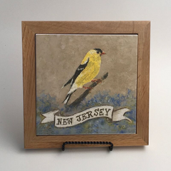 "Trivet/SB -""NJ Eastern Goldfinch"""