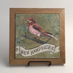 "Trivet/SB -""NH Purple Finch"""