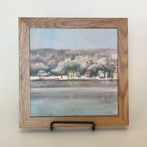 "Trivet/RS -""Frosted Village"""