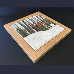 "Trivet/NE ""Red Barn in Woods"""