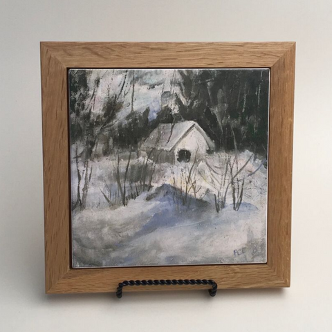 "Trivet/NE ""Little House in Winter"""