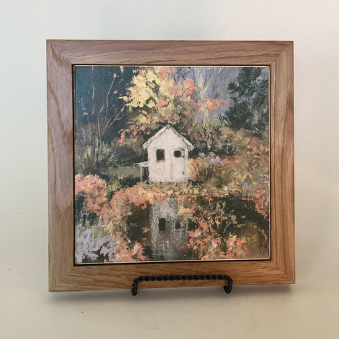 "Trivet/NE ""Little House in Autumn"""