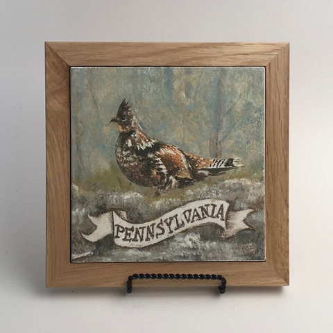 "Trivet/SB -""PA Ruffed Grouse"""