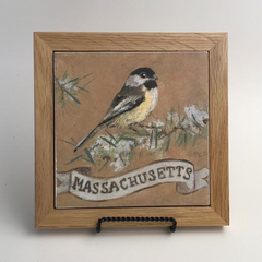 "Trivet/SB -""MA Black-capped chickadee"""