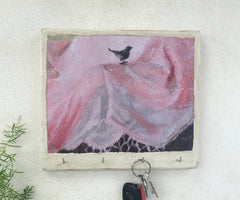 """Little Bird on Pink Linen"" - KR"