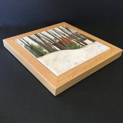 "Trivet / NE ""Red Barn in Woods"""