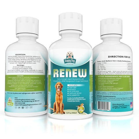 RENEW Liquid Glucosamine for Hunting Dogs