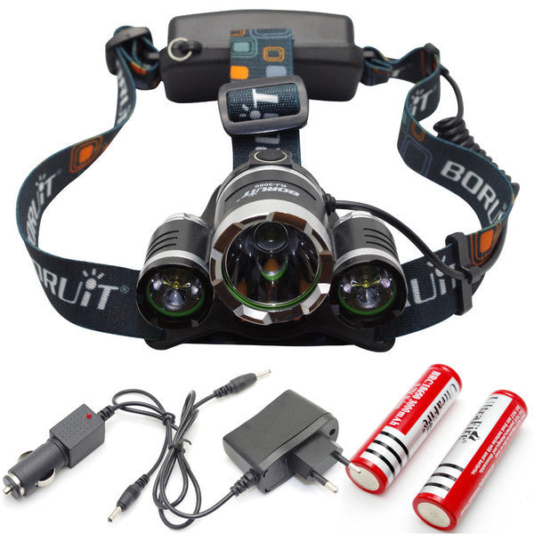 Ultra Bright Cree 5000lm Led Headlamp Hunt Fowl Gear
