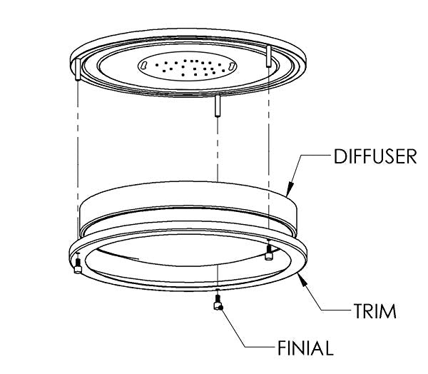 Flush Mount Ceiling Light, 10