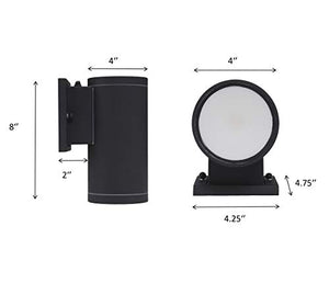 [2-Pack] Dusk to Dawn LED Outdoor Wall Light Fixture with Photocell,15W 5000K Day Light,Black