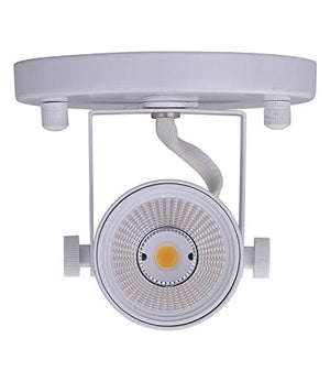 LED Flush Mount Ceiling Spot Light,CRI90+ 8W 500lm 3000K Warm White Dimmable, Adjustable Tilt Angle Ceiling Light Fixture,White Finish