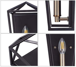 Cloudy Bay Wall Sconce,Oil Rubbed Bronze with Satin Brass, One E12 LED Light Bulb Included