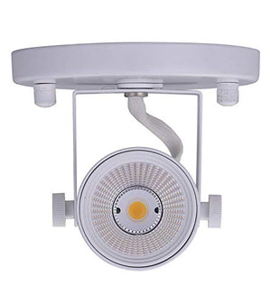 LED Flush Mount Track Light Head,CRI90+ 5000K Day Light Dimmable, Adjustable Tilt Angle Track Lighting Fixture,8W 500lm 40° Beam Angle,White Finish