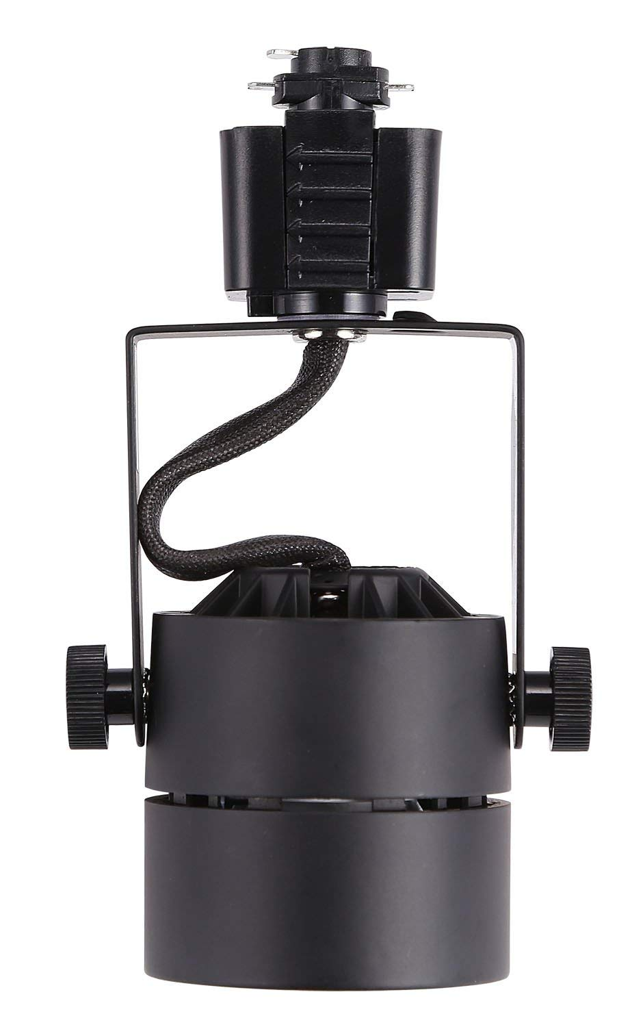 Track Light Head, Dimmable LED, Adjustable Tilt Angle, Warm white (3000K), Black, 120V/8W/580lm