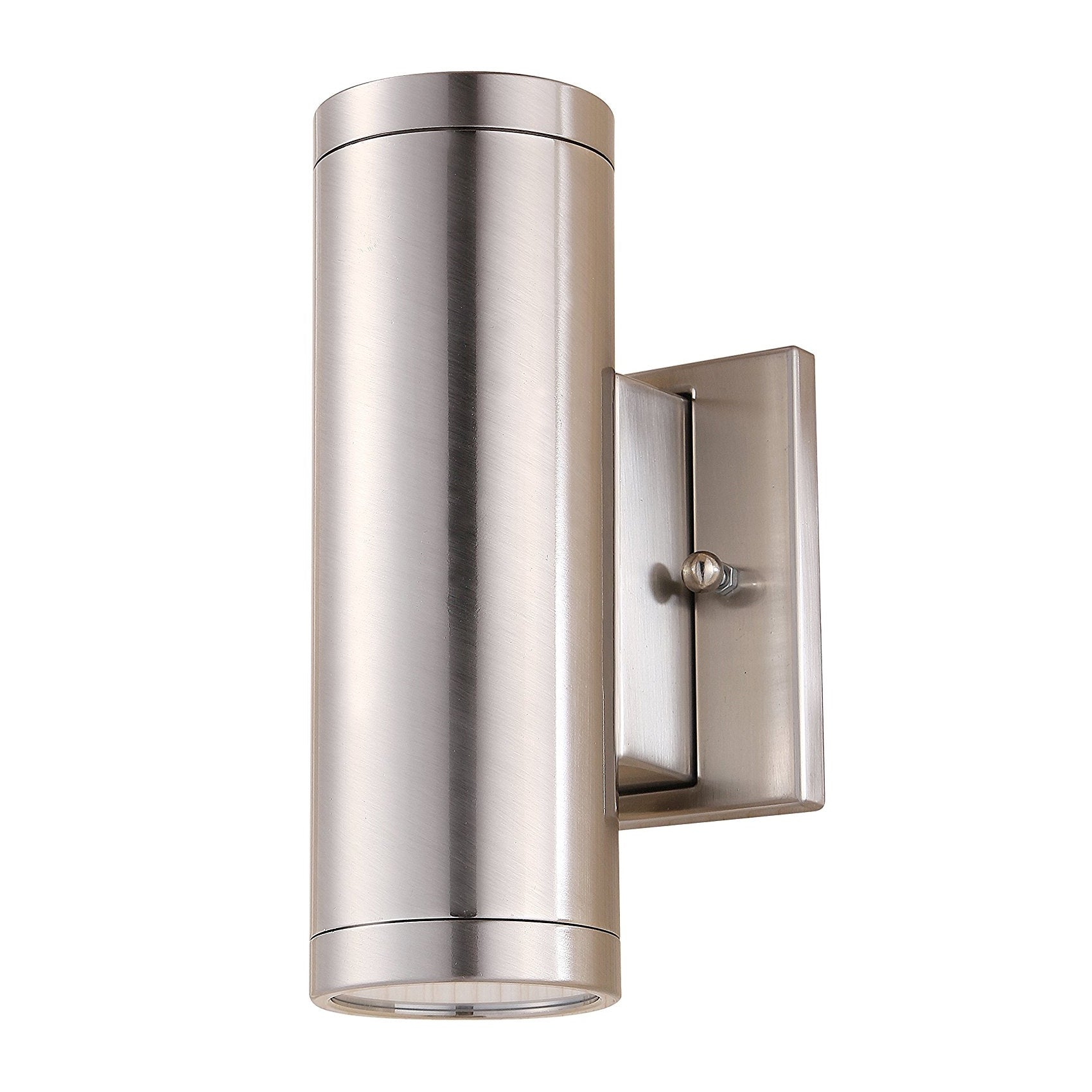 Up Down Wall Light Led Outdoor Brushed Nickel Finish 2