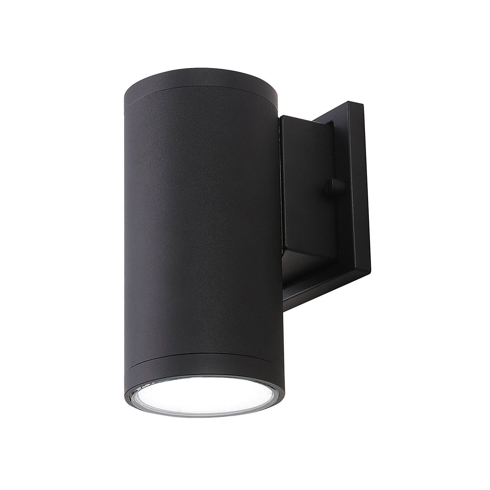 Cloudybay 4-inch 15W LED Outdoor Cylinder Porch Wall Light Black 5000K__title