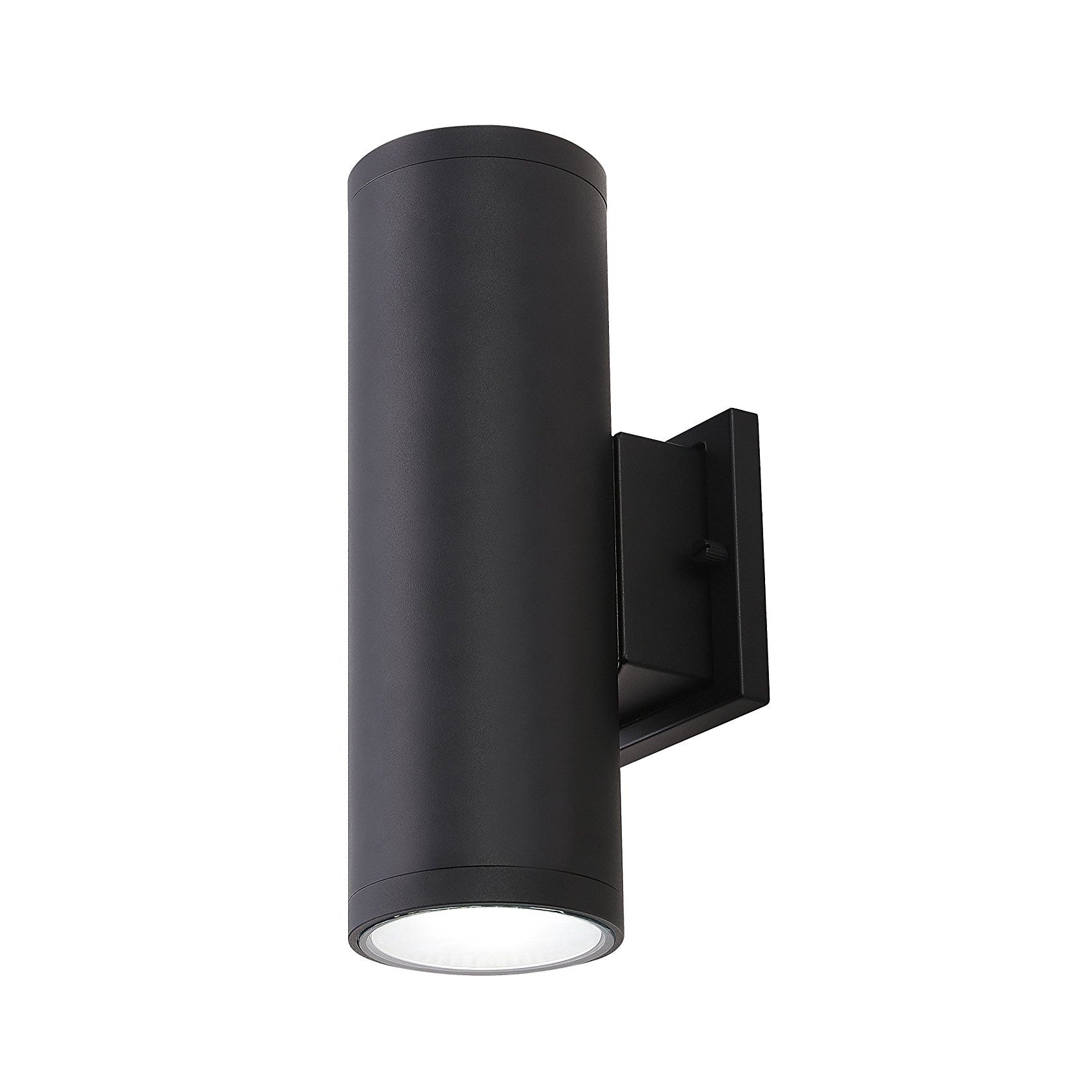 Cloudybay 4-inch 20W LED Outdoor Wall Light Black-5000K__title