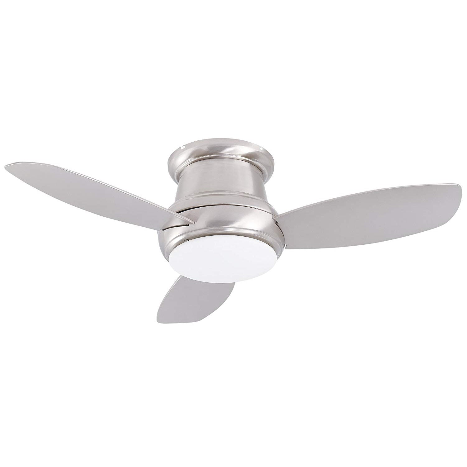 Flush Mount Ceiling Fan With Led Light 44 Quot Bn Finish 120v 62w 1050lm Cloudy Bay Lighting