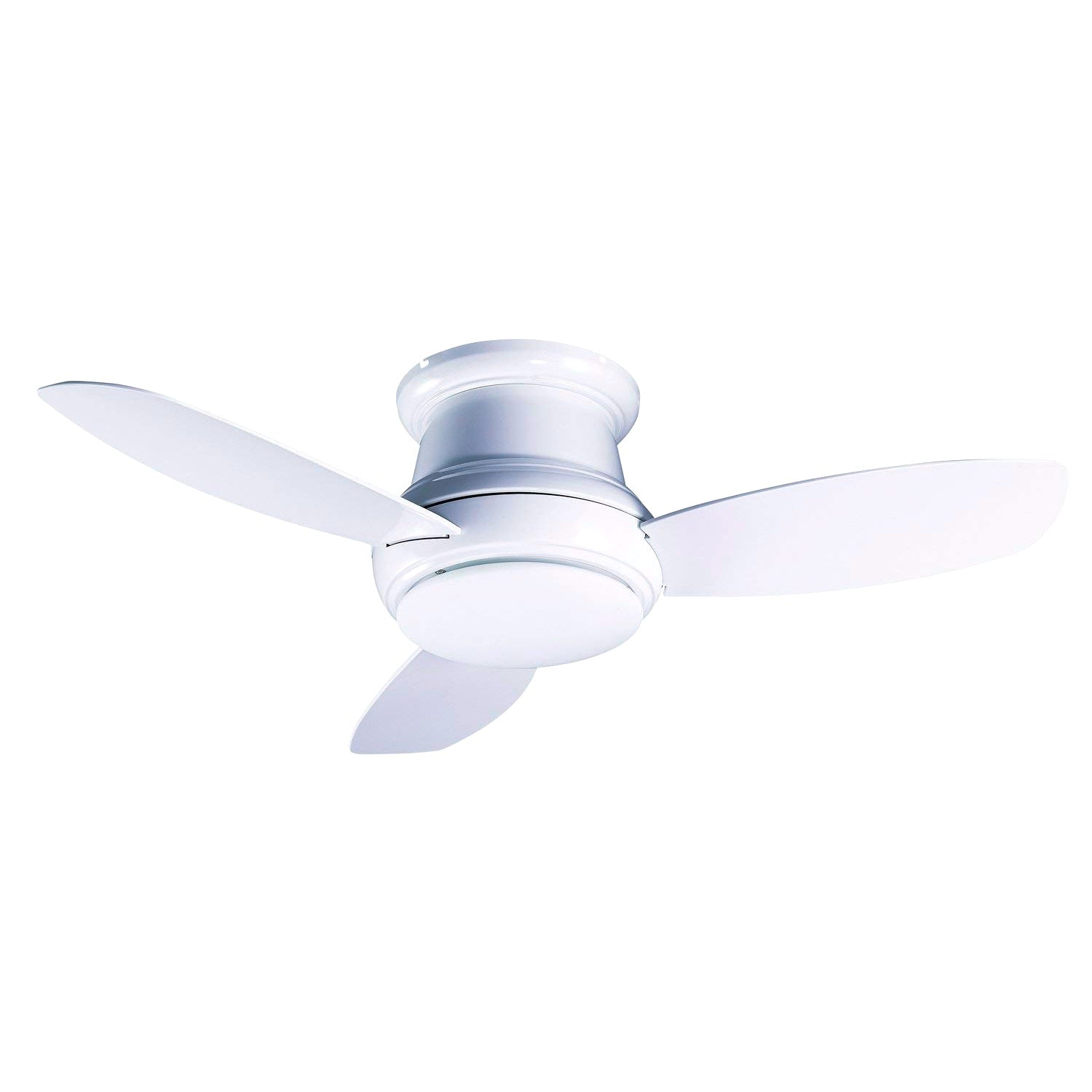 Cloudybay Ceiling Fan with LED Light 3000k 44-inch 60W White with Remote Control__title