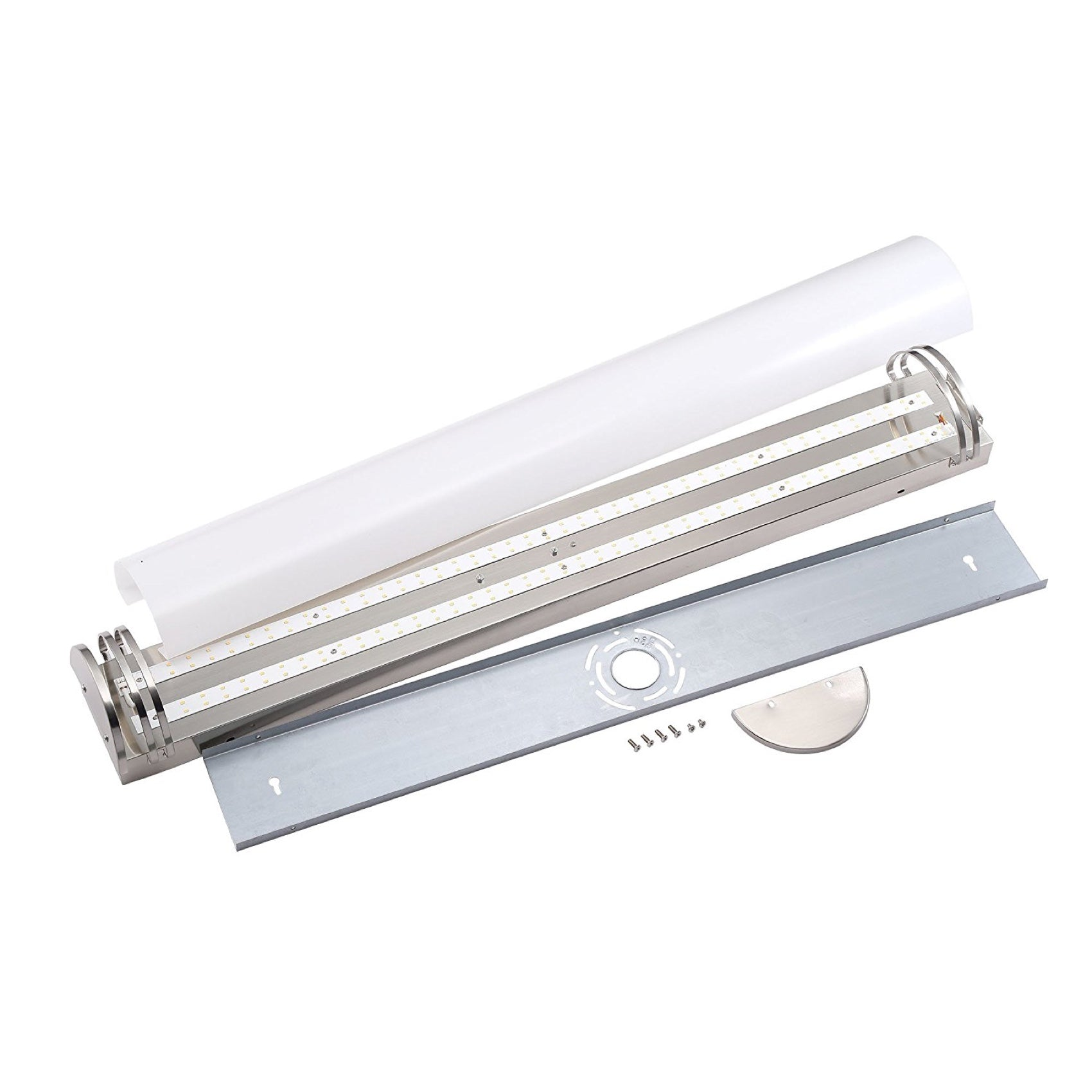 LED Bath Vanity Light, 48-inch, 35W, Brushed Nickel Finish, Cool White (4000K)