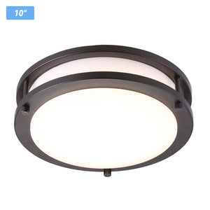 Cloudybay LED Flush Mount Ceiling Light 10-inch 17W Oil Rubbed Bronze__title