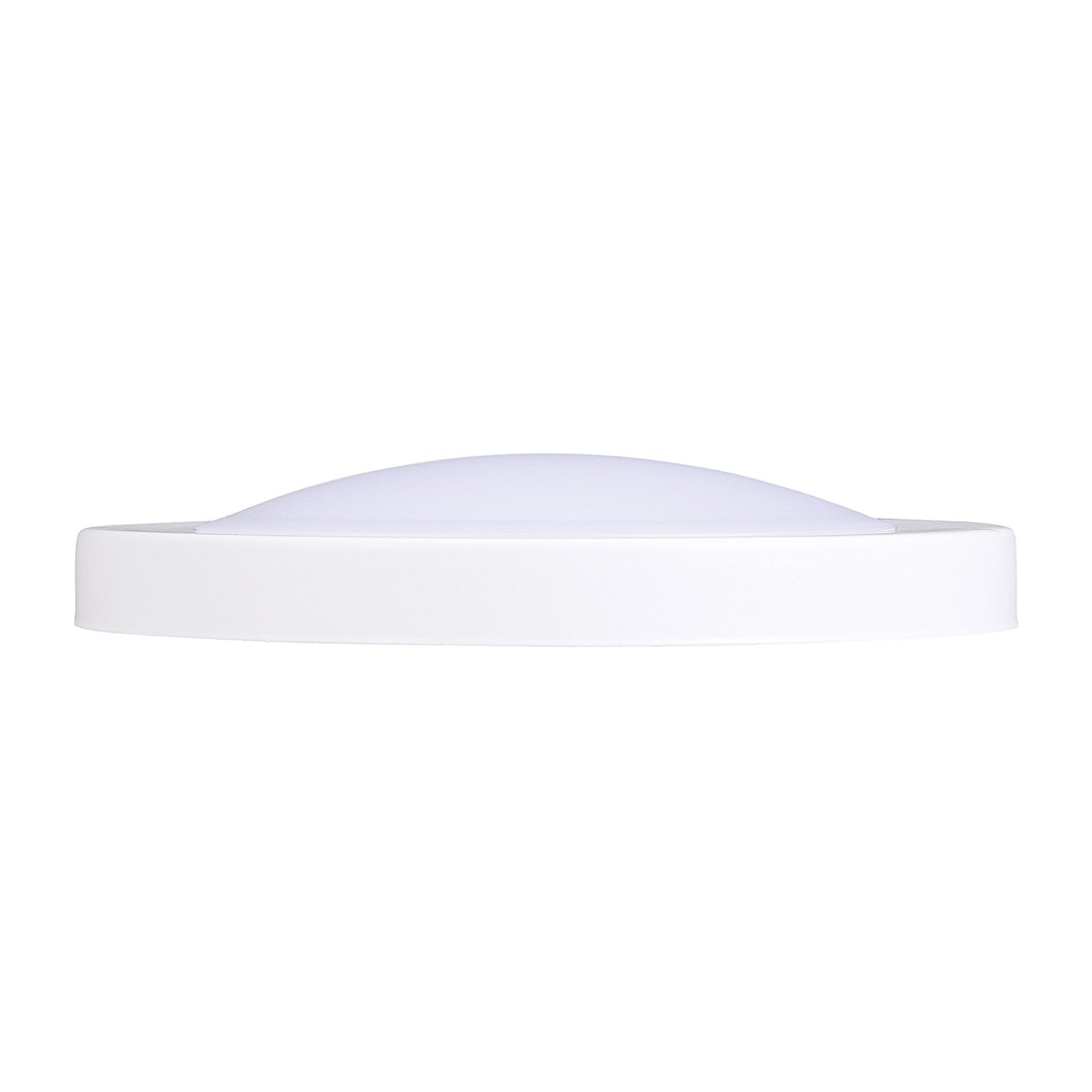 Flush Mount Ceiling Light, 7.5-inch, Dimmable LED, White Finish, Wet Location, 120V/12W/840lm