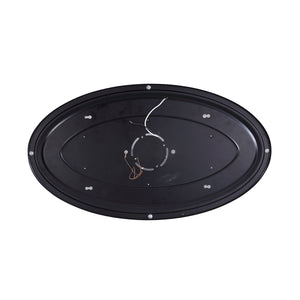 LED Flush Mount Oval Ceiling Light, Dimmable, 24-inch 28W 3000K Warm White, Oil Rubbed Bronze